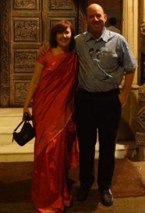 Lea Brovedani and Randall Craig in Mumbai, India