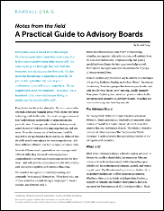 A Practical Guide to Advisory Boards