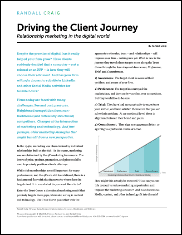 Driving the Client Journey: Relationship Marketing in the Digital World